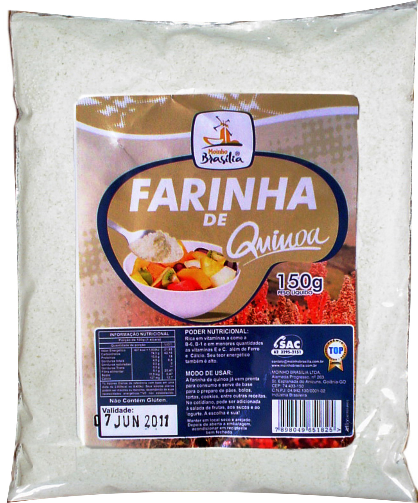 Cod.345-Farinha de  quinoa 150g
