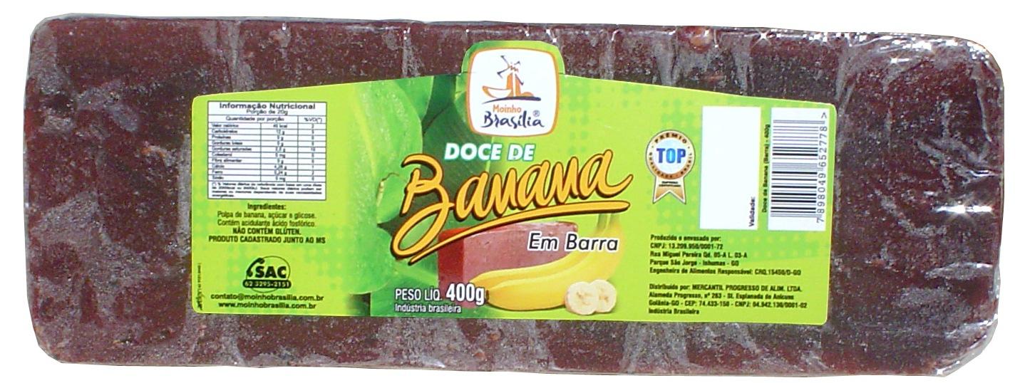 Cod.426-Doce de banana em barra 400g