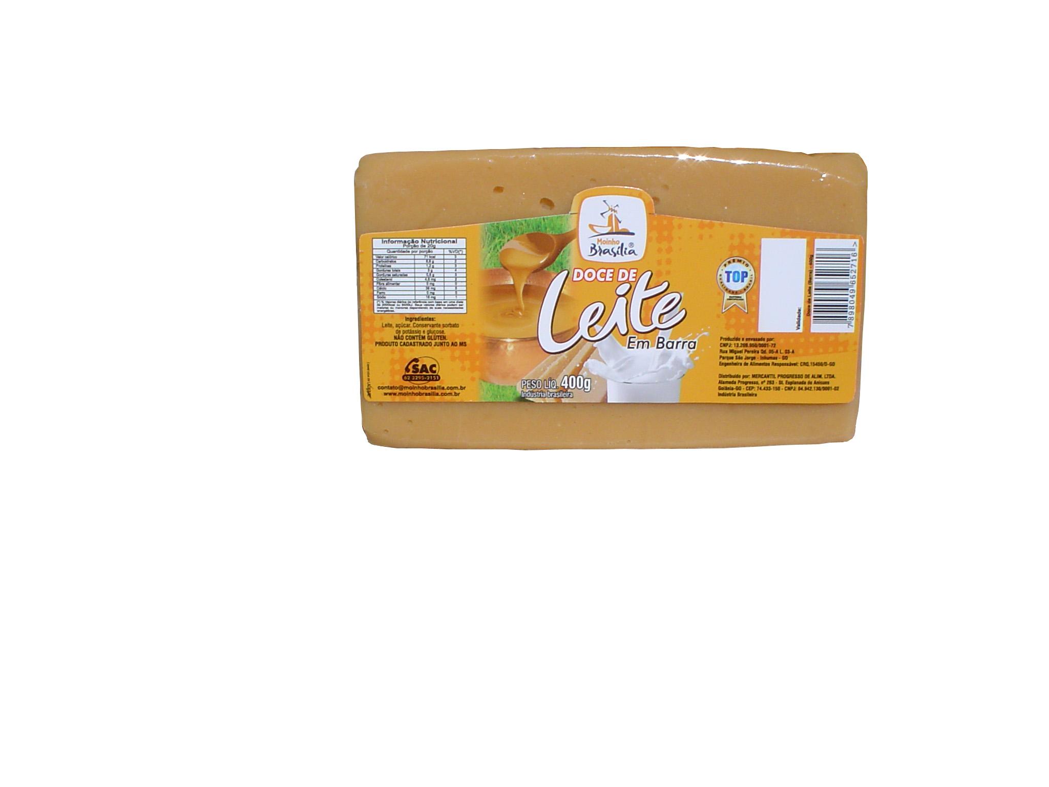 Cod.432-Doce de leite tradicional em  barra 400g