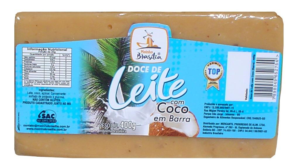Cod.433-Doce leite com coco em barra 400g